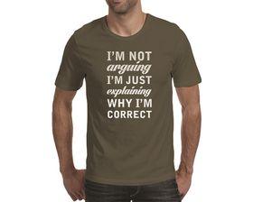 OTC Shop I'm Not Arguing Men's T-Shirt - Charcoal