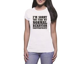 OTC Shop I'm Sorry Ladies T-Shirt - White