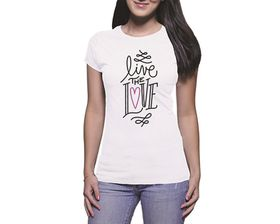 OTC Shop Live The Love Ladies T-Shirt - White