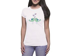 OTC Shop Love Birds Ladies T-Shirt - White