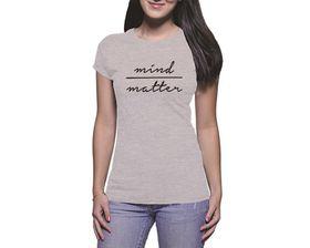OTC Shop Mind Over Matter Ladies T-Shirt - Grey Heather