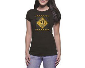 OTC Shop Monitored Ladies T-Shirt - Black