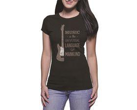 OTC Shop Music is Universal Ladies T-Shirt - Black