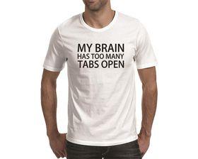 OTC Shop My Brain Men's T-Shirt - White