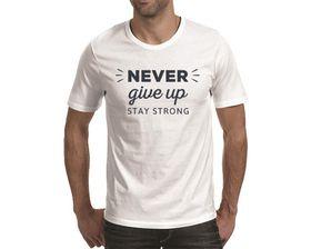 OTC Shop Never Give Up Men's T-Shirt - White