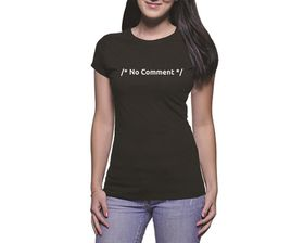 OTC Shop No Comment Ladies T-Shirt - Black