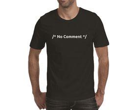 OTC Shop No Comment Men's T-Shirt - Black