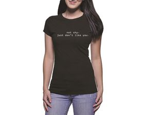 OTC Shop Not Shy Ladies T-Shirt - Black