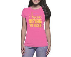 OTC Shop Nothing to Wear Ladies T-Shirt - Fuchsia