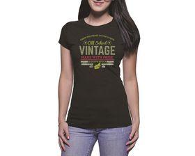 OTC Shop Old School Vintage Ladies T-Shirt - Black