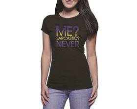 OTC Shop Sarcastic Ladies T-Shirt - Black