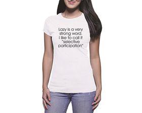 OTC Shop Selective Participation Ladies T-Shirt - White