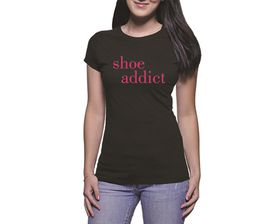OTC Shop Shoe Addict Ladies T-Shirt - Black