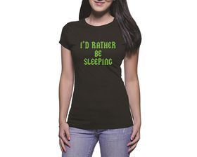 OTC Shop Sleeping Ladies T-Shirt - Black