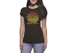OTC Shop South African Rhino Ladies T-Shirt - Black