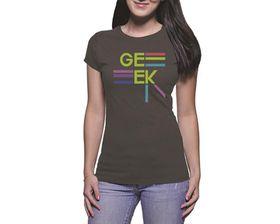 OTC Shop Stylin Geek Ladies T-Shirt - Charcoal