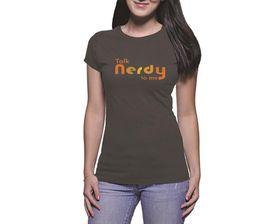 OTC Shop Talk Nerdy Ladies T-Shirt - Charcoal
