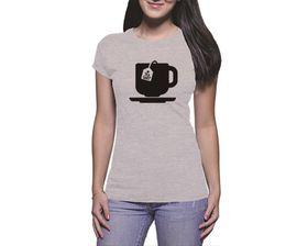 OTC Shop Tea Shirt Ladies T-Shirt - Grey Heather