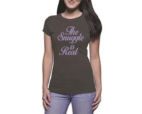 OTC Shop The Snuggle Ladies T-Shirt - Charcoal