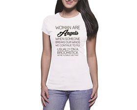 OTC Shop Women are Angels Ladies T-Shirt - White