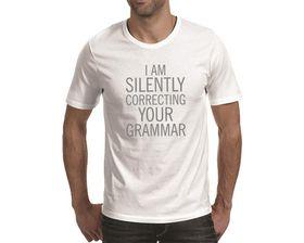 OTC Shop Your Grammar Men's T-Shirt - White