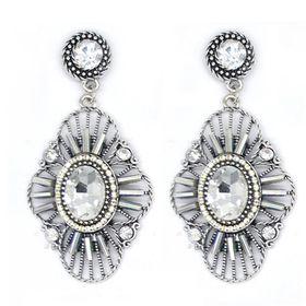 Bella Bella Silver Coloured Fashion Earrings  (TBE025)