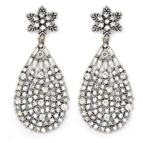Bella Bella Silver Coloured Fashion Earring  (TBE035)