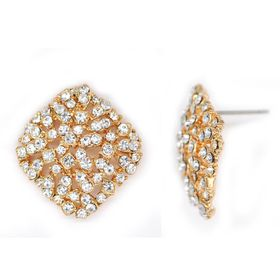 Bella Bella Gold Coloured Fashion Earrings  (TBE052)