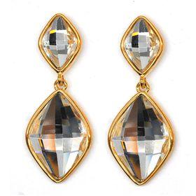 Bella Bella Gold Coloured Fashion Drop Earrings  (TBE061)