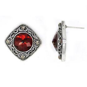 Bella Bella Silver Coloured Fashion Earrings  (TBE074)