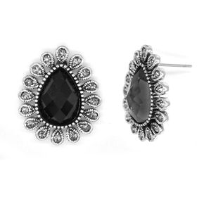 Bella Bella Silver Coloured Fashion Earrings  (TBE077)