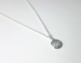 Lakota Inspirations Sterling Silver Encircled Om Necklace