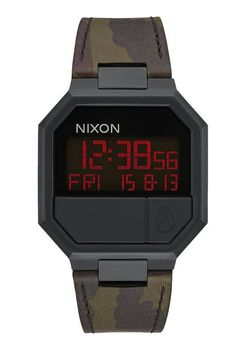 Re-Run Leather All Black / Camo Mens Watch - A9442255-00