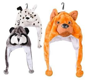 Bulk Pack 5x Winter Hat Animal Designs With Ear Flaps