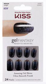 Kiss Gel Fantasy Nails Painted Veil
