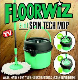 Floorwiz - 2-In-1 Spin-Tec - Green
