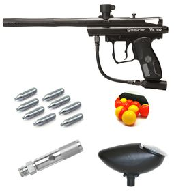 Spyder Victor Diamond Black Paintball Kit - 0.68 Calibre