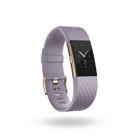 Fitbit Charge 2- Lavender Rose Gold in Large
