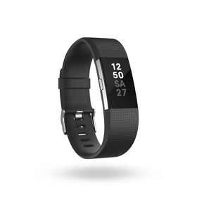 Fitbit Charge 2- Black Silver in Small