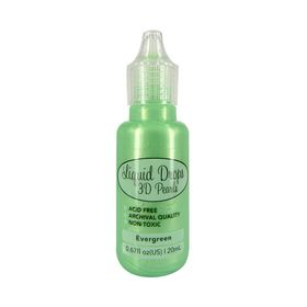 Ultimate Crafts Liquid Drops 3D Pearls - Evergreen