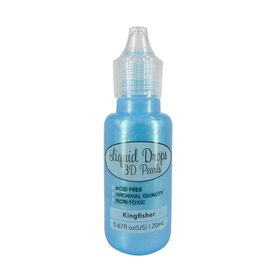 Ultimate Crafts Liquid Drops 3D Pearls - Kingfisher