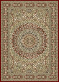 Rugs Original Kirman - Burgundy Circular Medallian