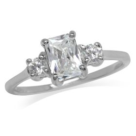 Miss Jewels- 1.87ct Clear CZ Engagement Ring in 925 Sterling Silver