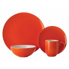 Maxwell and Williams - Colour Basics Coupe Dinner Set - 16 Piece - Orange