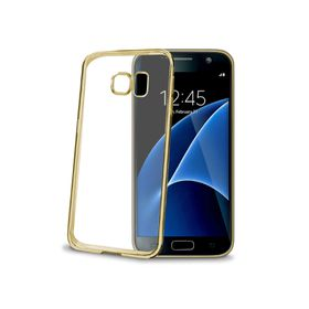 Celly Laser Cover for Samsung Galaxy S7 - Gold