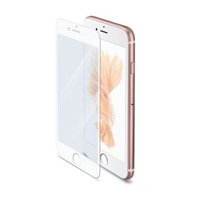Celly Full Glass Protector for iPhone 6s - White
