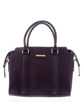 Bossi Ladies Panel Handbag With Shoulder Strap - Burgundy