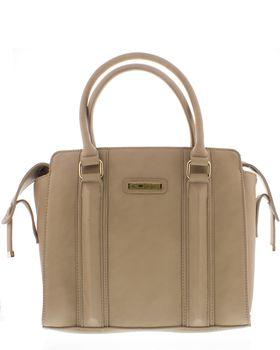 Bossi Ladies Panel Handbag With Shoulder Strap - Camel