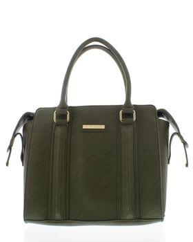 Bossi Ladies Panel Handbag With Shoulder Strap - Green