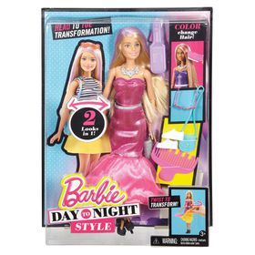 Barbie Total Transform Day to Night Style Doll